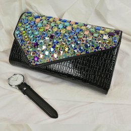 $enCountryForm.capitalKeyWord NZ - Women Evening Bag Day Clutches Bling Colorful Diamonds Ladies Wedding Clutch Sequin Queen Handbag Chic Chain Purse Clutch 2019