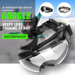 Discount fan goggle - Tactical Safety Eye Protection Glasses Eyewear Anti-fog Dust Regulator Goggle With Fan