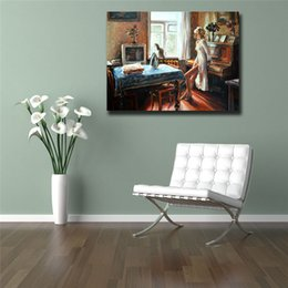 $enCountryForm.capitalKeyWord Australia - The Beautiful Woman In The Living Room HD Oil Canvas Posters Prints Wall Art Painting Decorative Picture Modern For Living Room Home Decor