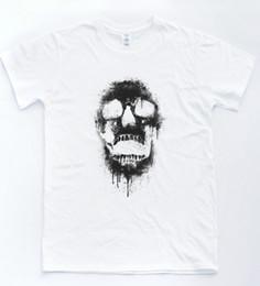$enCountryForm.capitalKeyWord Australia - Skull Paint TShirt Indie Art Black Death Metal Skeleton Spray Halloween Graffiti Funny 100% Cotton T Shirt Cattt Windbreaker Pug Tshirt