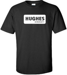 $enCountryForm.capitalKeyWord UK - Hughes Aircraft Vintage Logo US Airline Aviation T-Shirt wholesale 2018 Summer 100% Cotton Personality 2018 Brand Cool Tops Short