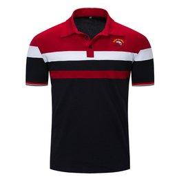 Spandex Polo Shirt Australia - New 2019 summer men's polo shirt men's lapel T-shirt c03