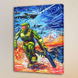 Van Gogh Framed Print Australia - Van Gogh Super Soldier -1,HD Canvas Print Home Decor Art Painting Unframed Framed