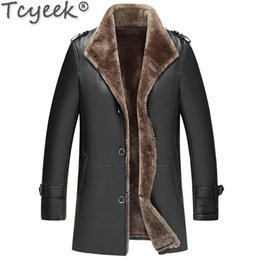 motorcycle jacket liners Canada - Genuine Sheepskin Leather Jacket Winter Sheepskin Coat Real Wool Fur Liner Motorcycle Jacket Man Warm LWB1761-1 KJ1582