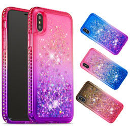 Iphone Cases Liquid NZ - Soft Fashion Quicksand Liquid Glitter Silicone Diamond Bling Phone Case for iPhone xs max xr x xs 5 5s se 6 6s 7 8 Gradient Colors 08