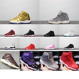$enCountryForm.capitalKeyWord NZ - Little kids 11s basketball shoes retro j11 Wolf grey Blue Black white Gold Concords boys girls jumpman 11 xi sports sneakers tennis with box