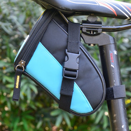 bike panniers green Canada - 2016 New B-SOUL Outdoor Cycling Mountain Bike Bicycle Saddle Bag Back Seat Tail Pouch Package Black Green Blue Red Pink Sky Blue