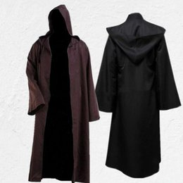 tv film halloween costumes Australia - Halloween Robe Cosplay Designer Film Theme Costume Jedi Knights Cloak Darth Vader Cloak Solid Color COS Costume for Men Fashion