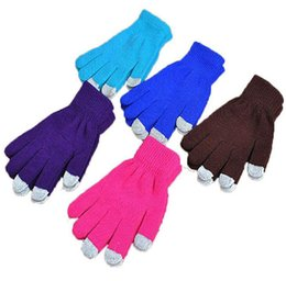 $enCountryForm.capitalKeyWord UK - Free shipping Knit Wool Touch Gloves Warm Winter Best Quality glove Unisex Functiona Gloves for iPhone Touch Screen Gloves for iPad DHL Free
