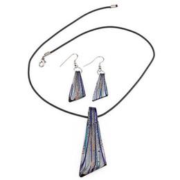 $enCountryForm.capitalKeyWord UK - Set Murano glass stripe necklace earrings