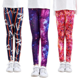 kids leggings pants Canada - 13 Style Kids INS PP Pants Baby Toddlers New Boys Girls Printing Geometric Figure Milk Silk Leggings Trousers Leggings BY1553