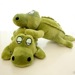 Crocodiles Alligator Toys Australia - cute crocodile plush pillow doll alligator toys girl sleeping pillow plush toy birthday gift 43inch 110cm