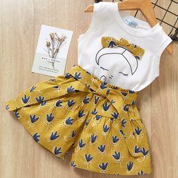 $enCountryForm.capitalKeyWord Australia - Girls clothes sets summer children fashion cotton sleeveless tops+short pants 2pcs tracksuits for baby girls kids princess clothing suits