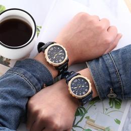 Big Case Wrist Watches Australia - Fashion Casual Number luminous Punk style big dial Golden case 48mm real Man Men Watches Leather Luminous Quartz Analog Wrist Watches