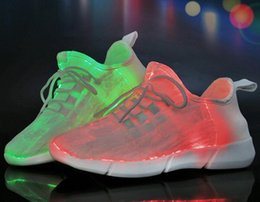 led shoes for men Australia - Size 35-46 Summer Led Fiber Optic Shoes for Girls Boys Men Women USB Recharge Glowing Sneakers Man Light Up Shoes Sports