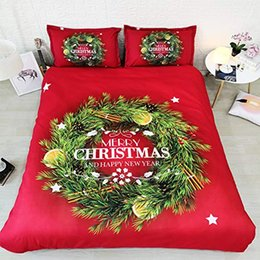 queen size christmas bedding NZ - Merry Christmas Duvet Cover Set Orange Fruit Bedding Bedspreads Queen Size Red And Green Kids Bed Sets Boy And Girl 3pc