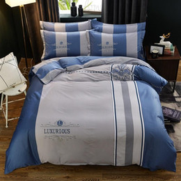 Wholesale upscale bedding for sale - Group buy Contracted style fashion diverse printing patterns white cotton bedding sets for bedroom and Upscale hotel