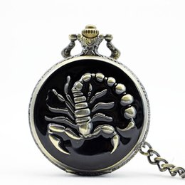 Unique Watches For Men Australia - Unique Cool Scorpion Quartz Pocket Watches Fob Watch For Man Woman Clock Watch with Chain Necklace for Boys WP4009