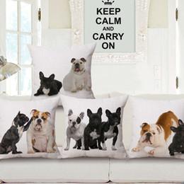 $enCountryForm.capitalKeyWord Australia - Adorkable France Bullfight Dog Series Cotton Cushion Home Furnishing Pillow Sofa Cushion