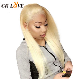 $enCountryForm.capitalKeyWord Australia - Transparent Swiss Lace Human Hair Wigs #613 Blonde Color Wigs Brazilian Remy Hair Full Lace Wigs Silky Straight OKLove