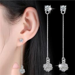 $enCountryForm.capitalKeyWord Australia - Elegant Tassel Cube Chain Earrings S925 Shiny Classic Long Silver Ear Wire Fashion Sexy Glamorous Temperament Not Allergic