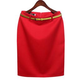 $enCountryForm.capitalKeyWord Australia - Plus S-3xl Size Winter Autumn Wool Pencil Skirt Women's Formal Ol Wear To Work Medium-length High Waist Skirt With Belt