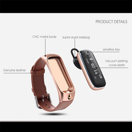 $enCountryForm.capitalKeyWord Australia - M6 Bluetooth Smart Bracelet headset Sports Smartband Leather Wristband Sleep Monitor Call Reminder Earphone for IOS Android