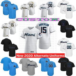 Discount custom baseball jerseys women - custom Miami 2020 Marlins jersey Starlin Castro Jorge Alfaro Garrett Men Women Youth any name any number 100% Stitched