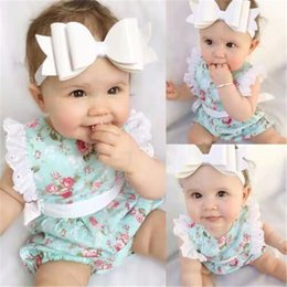 $enCountryForm.capitalKeyWord NZ - Baby romper summer bowknot baby girls romper suits kids ins flower flying sleeve triangle rompers newborn baby girl clothes DHL FJ86