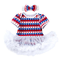 8135a813eb92 0-2T USA 4TH JULE Kids Clothing Baby Clothes Sets Romper TUTU Yarn Boho  Special Occasionc Two-piece Dress Girls Birthday Pinafore Dress