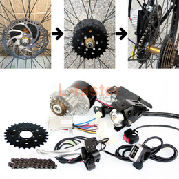 motor bicycles NZ - 250W Brush Motor Electric Bicycle Conversion Kit Mountain Bike Disc Brake 28T Sprocket Electric Bike Side Mount Chain Drive Kit