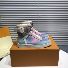 $enCountryForm.capitalKeyWord Australia - RIVOLI Sports Boots Colorful Fashion shoes European station autumn and winter leather high to help tie men and women small white shoes1