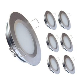 12v puck lights Australia - Topoch Led Downlight Round 6 -Pack 3w Super Slim Spring Clips Mount Full Aluminium Puck Light Dc12v 240lm For Rv Marine Silver White Nickel