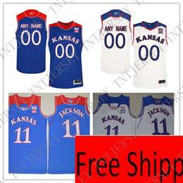 0019176c3e4 Basketball Jersey Xxl NZ - Custom Kansas Jayhawks College Basketball JERSEY  royal blue white Personalized Stitched