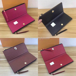 Chinese  wholesale classic ladies long wallet for women multicolor designer coin purse card holder package original ladies zipper wallet pocket manufacturers