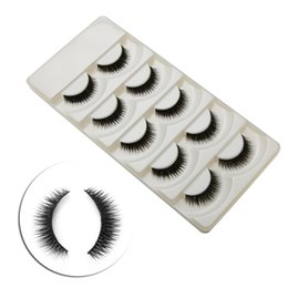 $enCountryForm.capitalKeyWord Australia - New Soft 5 Pairs Long Makeup Thick False Eyelashes Eye Lashes Nautral Cross Handmade