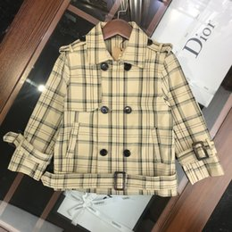$enCountryForm.capitalKeyWord NZ - Bur Autumn new children's kids trench coat leisure suit collar short trench coat cotton fabric windbreaker