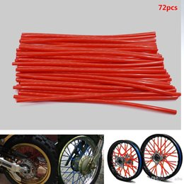 wheel trimmer UK - For 36pcs motorcycle wheel spokes protective wraps TRIM skin rims Caps pipe for motocross Bicycles cool bike Accessories 10 colors