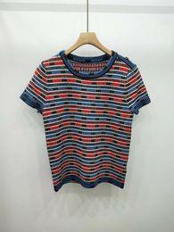 $enCountryForm.capitalKeyWord Australia - 2019 Summer Milan Runway T-Shirt O Neck Short Sleeve Women's T-Shirt High End Jacquard pullover Women Designer T-Shirt 062008