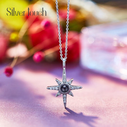 $enCountryForm.capitalKeyWord Australia - European and American Fashion 925 Pure Silver Lucky Star necklace individual hundred-tie-up Pure Silver Bone chain