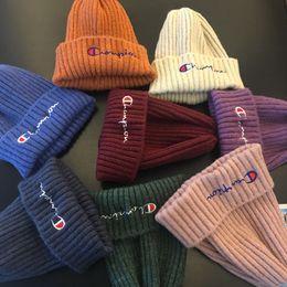 $enCountryForm.capitalKeyWord Australia - C letter Embroidery Winter Hats Gorro Bonnet kids children Crochet Skiing Skull Hat Wool Knitted Beanies Cap LJJA2819