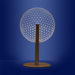 Discount blooming lamp - 3D Effect Bloom Table Lamp Reading Novelty LED Night Light With Luminous Lampshades 3D Optical Illusion Light