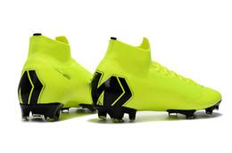 Discount cr7 soccer shoes - Light Green Soccer Cleats Mercurial Superfly VI 360 Elite FG Original 6 Elite Outdoor Soccer Shoes Cristiano Ronaldo CR7