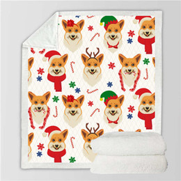 $enCountryForm.capitalKeyWord Australia - 3D Christmas Dog Cat Picnic Hiking School Sofa Flannel Blanket Scotland Pattern Custom Printed Fleece Throw Bedspread Blanket