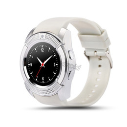 Smart Watch Phone Camera Australia - Bluetooth V8 Smart Watch Android SmartWatch Phone Call GSM Sim Remote Camera Information Display Sports Pedometer Smartwatches watch V8