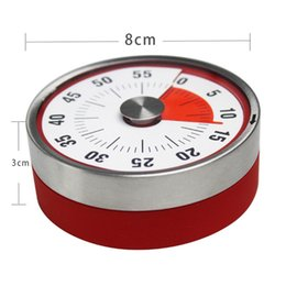 magnetic timers Australia - 8cm Mechanical Countdown Stainless Steel Magnetic Timer Cooking Time Reminder Practical Kitchen Tools Hot Sale WB693