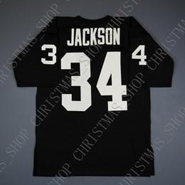 Опт 100% Сшитые Бо Джексон 1990 Рейдеров Митчелл Несс футбол Джерси Мужские Оптовые Джерси Мужские S-3XL Высокое качество бесплатная доставка