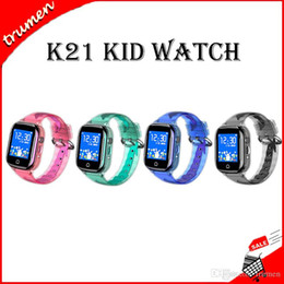 $enCountryForm.capitalKeyWord Australia - K21 Smart Watch HD Touch Screen Waterproof Phone GPS Positioning Children Smartwatches for IOS Android Kids Watches
