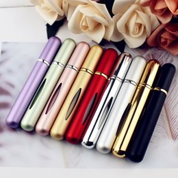 PumP mist online shopping - Mini Size ml Perfume Bottle Spray fine mist Atomizer Colorful Cosmetics Portable Pump Aromatherapy Scent Sample Refillable With Window