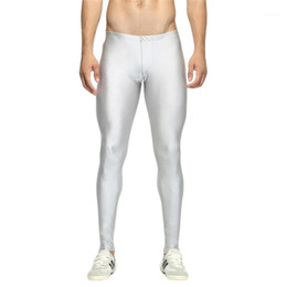 gold tight leggings Australia - Men's Pants Compression Leggings Men's New Fashion Coloured Sports Fitness Pants Fast-Drying Breathable Tights Male1